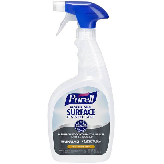 Professional Surface Disinfectant, Fresh Citrus, 32 Oz Spray Bottle, 12/carton