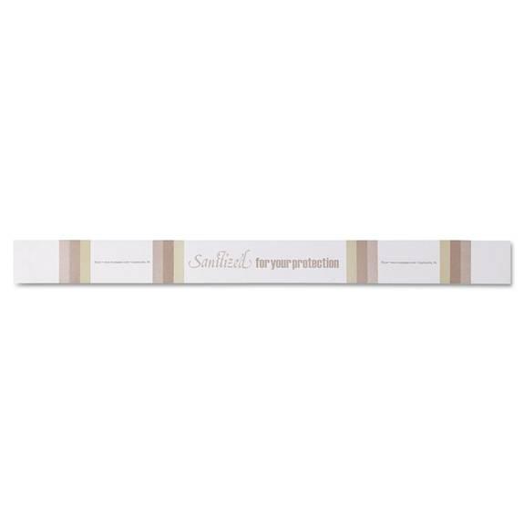 Toilet Seat Bands, Brown/white, Paper, 2000/carton