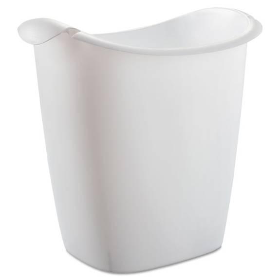 Recycle Bag Wastebasket, Rectangular, Plastic, 3.5 Gal, White