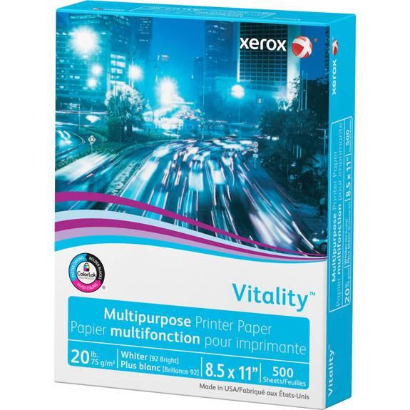 500//ream 92 Bright White 8.5 X 11 Vitality Multipurpose Print Paper 24lb