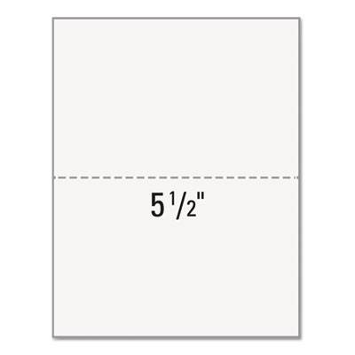 """Office Paper, Perforated 5 1/2"""" From Bottom, 8 1/2 X 11, 20-Lb, 500/ream"""
