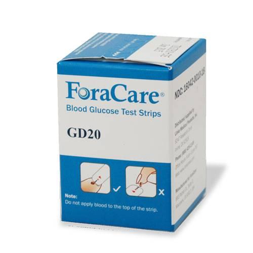 LINKS MEDICAL PROD FORA GD20 Test Strips Model: GD20FS50
