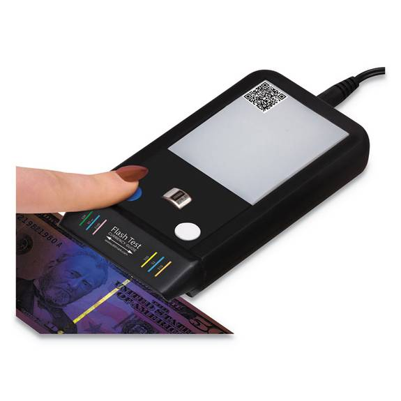 Dri Mark  FLASHTEST COUNTERFEIT DETECTOR, MICR, UV LIGHT, WATERMARK, U.S. CURRENCY, BLACK 351FT 1 Each