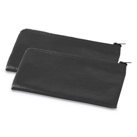 Universal  ZIPPERED WALLETS/CASES, 11W X 6H, BLACK, 2/PK UNV69021 2 package