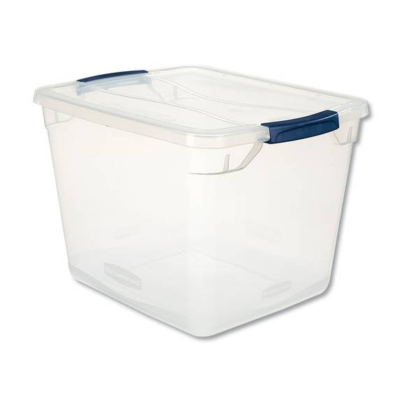 Rubbermaid  CLEVER STORE BASIC LATCH-LID CONTAINER, 13 3/8W X 16 7/8D X 11 1/2H, 30QT, CLEAR RMCC300001 1 Each