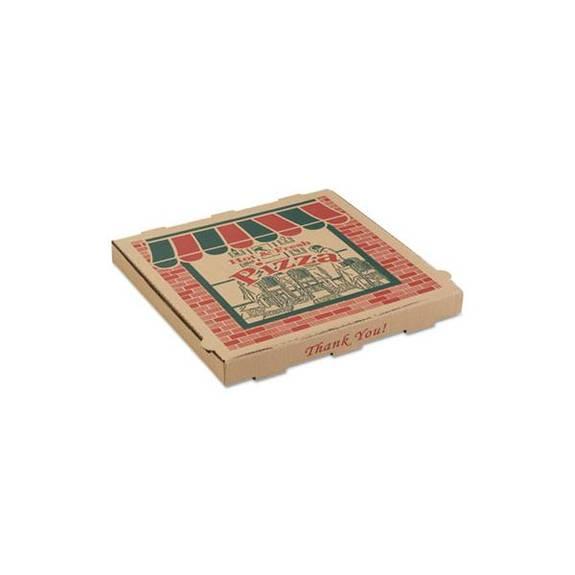 Corrugated Pizza Boxes, 16 X 16 X 1 3/4, Kraft, 50/carton