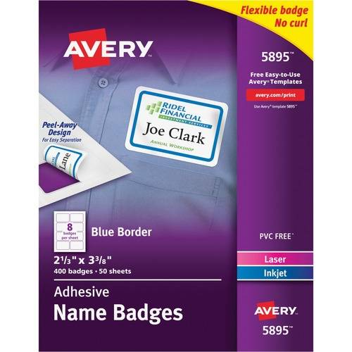 Avery® Flexible Adhesive Name Badge Labels (BX/BOX)