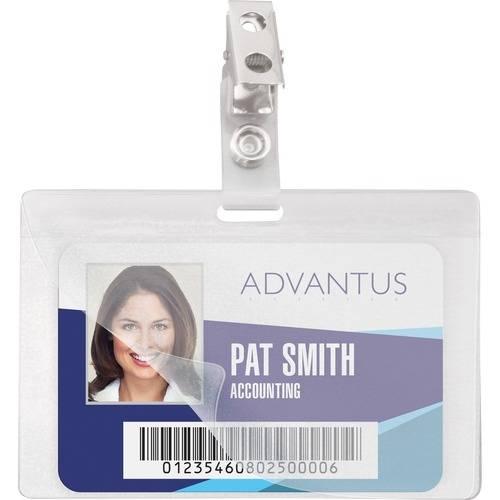 Advantus Strap Clip Self-laminating Badge Holders (PK/PACKAGE)