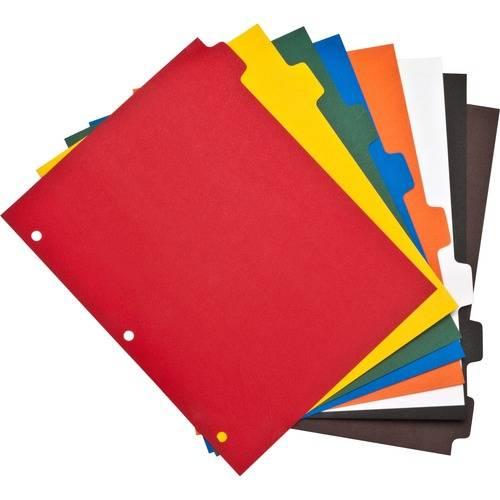 Business Source Plain Tab Color Polyethylene Index Dividers (ST/SET)
