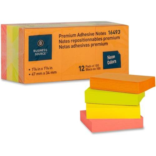 Business Source Premium Repostionable Adhesive Notes (PK/PACKAGE)