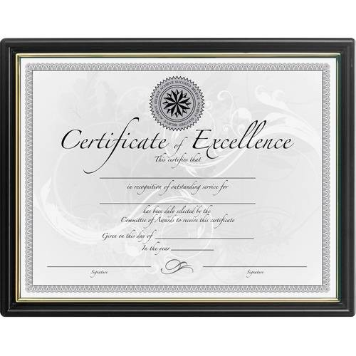 DAX Black & Gold Certificate Frames (PK/PACKAGE)