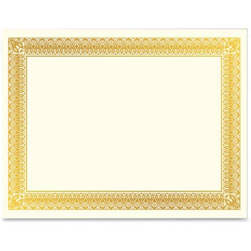Geographics Gold Foil Certificate (PK/PACKAGE)
