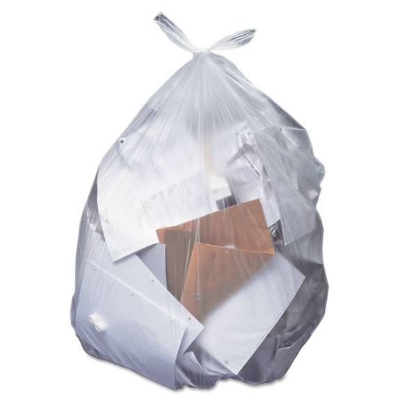Low-Density Can Liners, 12-16 Gal, 0.35 Mil, 24 X 32, Clear, 500/carton