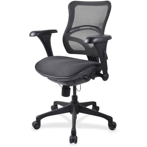Lorell Mid-back Fabric Seat Chairs (EA/EACH)