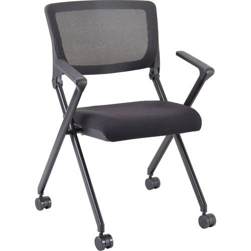 Lorell Plastic Arms Mesh Back Nesting Chair (CA/CASE)