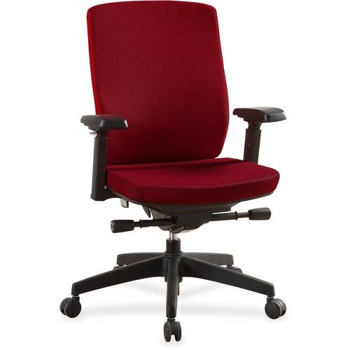 Lorell Mid-Back Chairs with Adjustable Arms (EA/EACH)