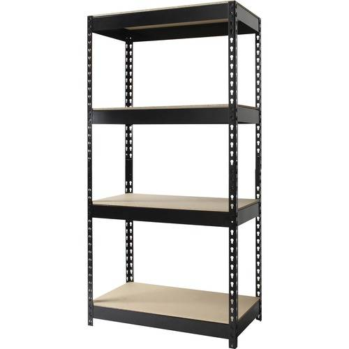 Lorell 4-shelf Riveted Steel Shelving Unit (EA/EACH)