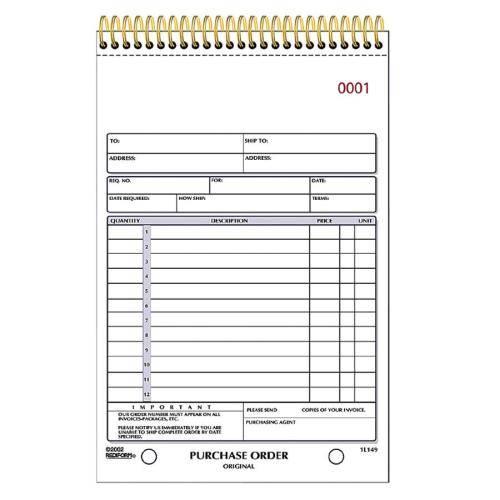 Rediform Purchase Order Book (EA/EACH)