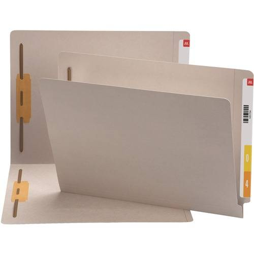 Smead End Tab Colored Fastener Folders with Shelf-Master® Reinforced Tab (BX/BOX)