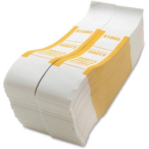 Sparco White Kraft ABA Bill Straps (PK/PACKAGE)