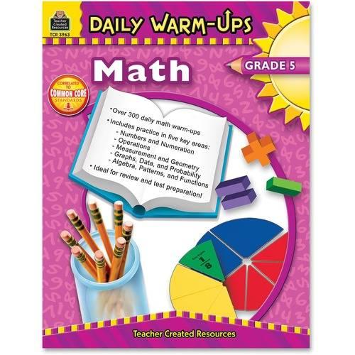 Teacher Created Resources Gr 5 Math Daily Warm-Ups Book Education Printed Book for Mathematics (EA/EACH)
