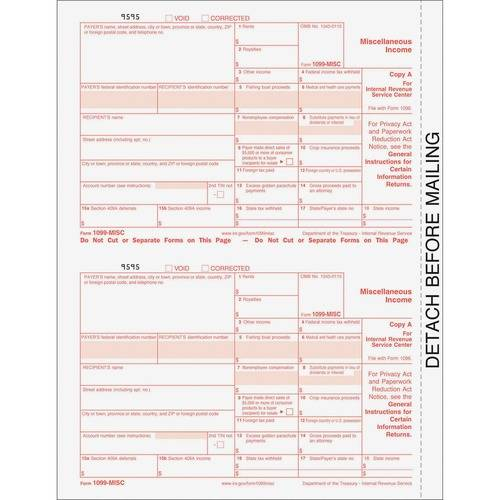 TOPS 4-Part Continuous 1099 Misc. Forms (PK/PACKAGE)