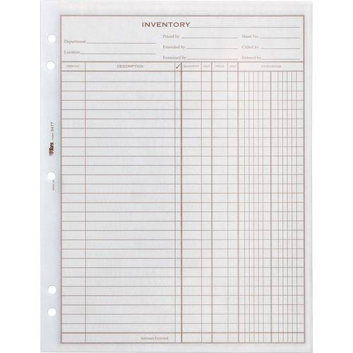 TOPS Easy Use Inventory Sheets (PK/PACKAGE)