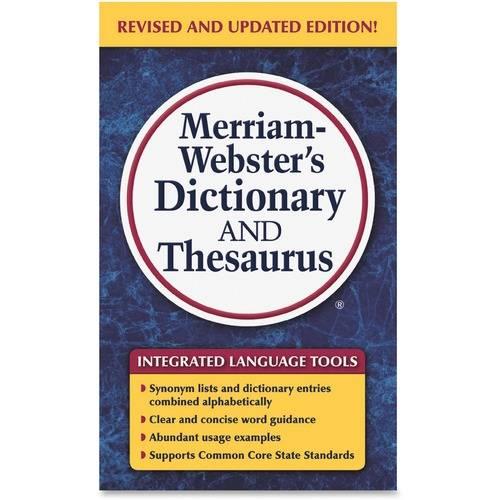 Merriam-Webster Dictionary/Thesaurus Printed Book (EA/EACH)