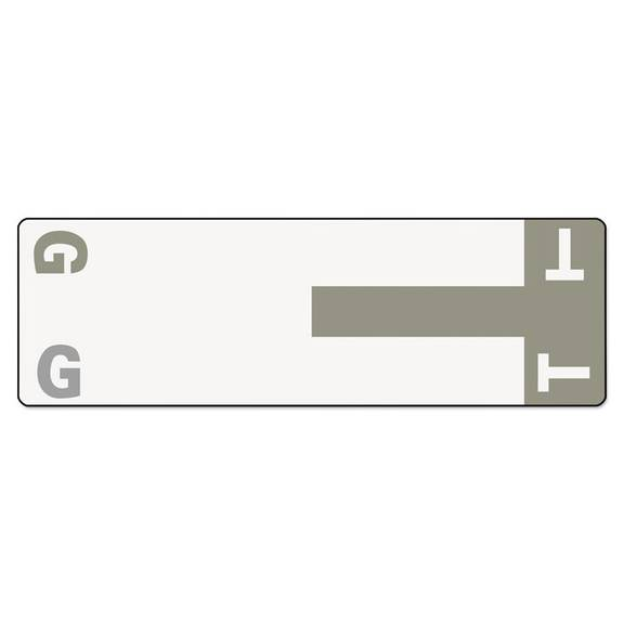 Alpha-Z Color-Coded First Letter Name Labels, G & T, Gray, 100/pack