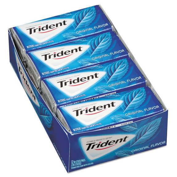 Sugar-Free Gum, Original Mint, 18 Sticks/pack, 12 Pack/box