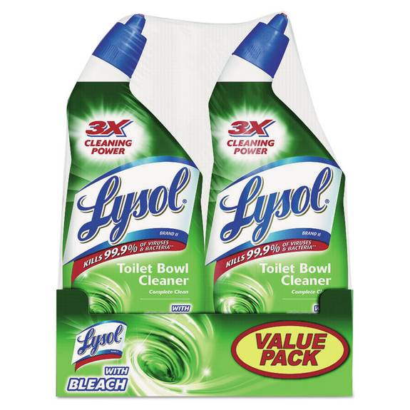 Disinfectant Toilet Bowl Cleaner With Bleach, Liquid, 24oz Twin Pack