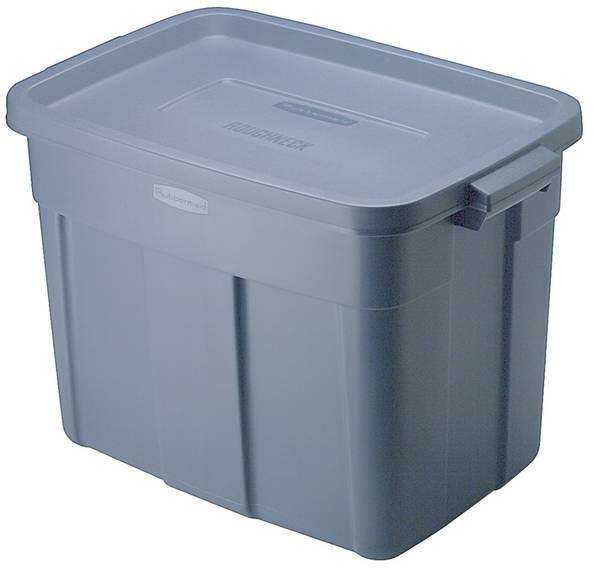 Roughneck Storage Box, 18 Gal, Dark Indigo Metallic, 12/carton