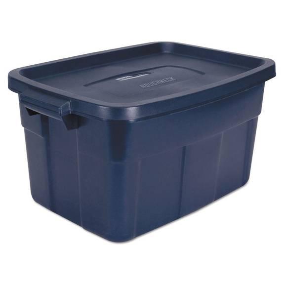 Roughneck Storage Box, 14 Gal, Dark Indigo Metallic, 12/carton