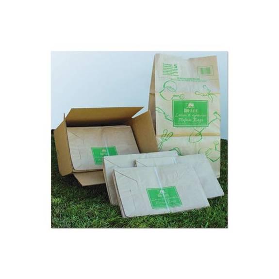 Paper Lawn & Leaf Bag, 50lb Kraft, Wet-Strength 16 X 12 X 35, 50 Bags