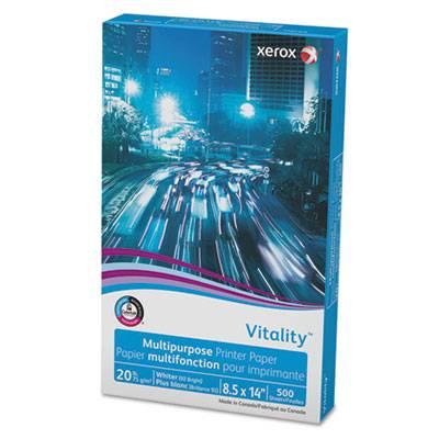Vitality Multipurpose Printer Paper, 8 1/2 X 14, White, 500 Sheets/rm