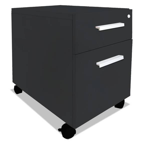 E5 Series Mobile Box/file Pedestal, 15 1/2w X 24d X 23h, Raven