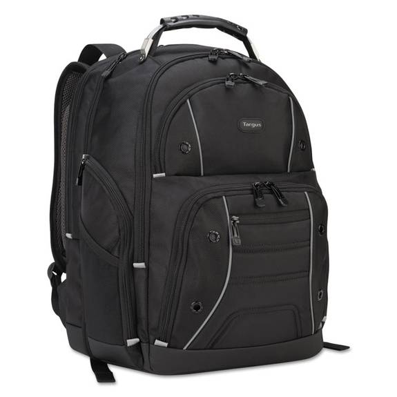 """Drifter Plus With Tsa Backpack, For 17"""" Laptop, 13 3/4 X 8 1/8 X 17 3/4, Black"""