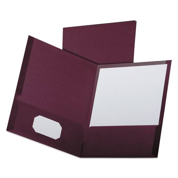 Linen Finish Twin Pocket Folders Letter Burgundy 25 Box
