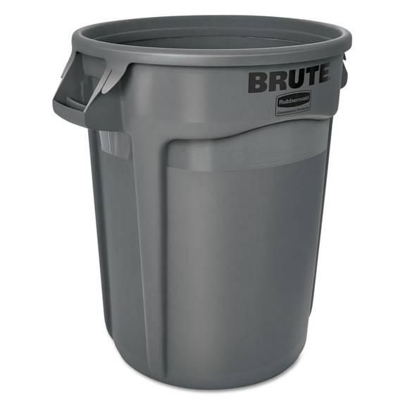 Brute Round Containers, 32 Gallon, Black (1 EA)