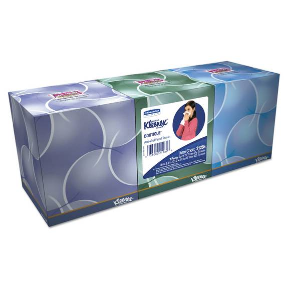Kleenex Boutique Anti-Viral Tissue, 3-Ply, Pop-Up Box, 68