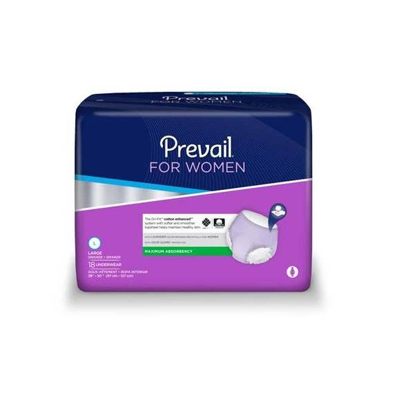 FIRST QUALITY Prevail For Women - Maximum Absorbency Underwear (PACK OF 72)