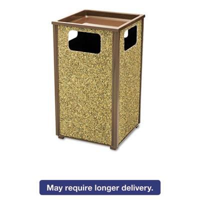 Aspen Series Sand Urn/litter Receptacle, Square, Steel, 24 Gal, Brown