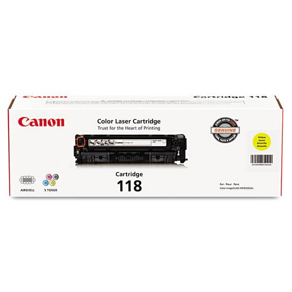 canon 2659b001  118  toner  yellow 2659b001 1 each