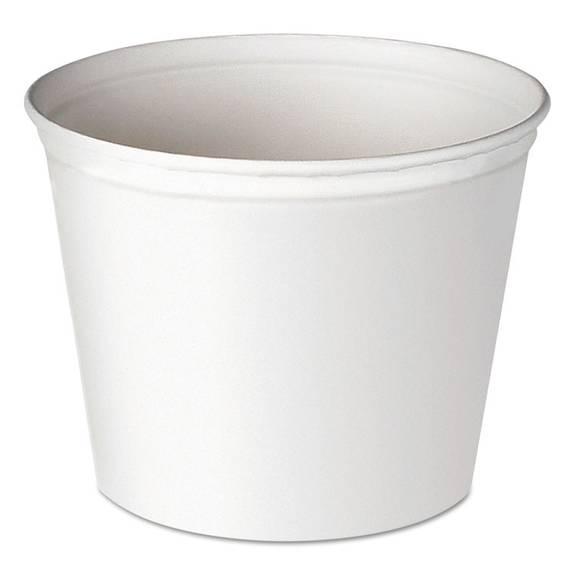 Double Wrapped Paper Bucket, Unwaxed, White, 83oz, 100/carton