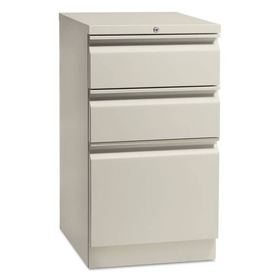"""Flagship Mobile Box/box/file Pedestal With """"r"""" Pulls, 15w X 16 7/8d, Light Gray"""