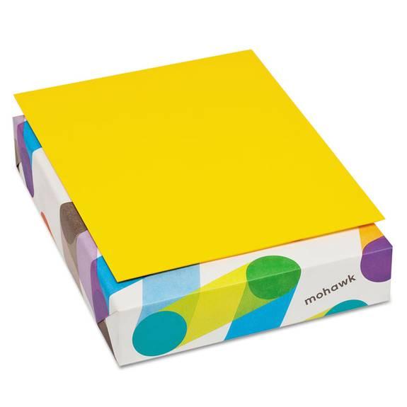 Britehue Multipurpose Colored Paper, 20lb, 8 1/2 X 11, Sun Yellow, 500 Sheets