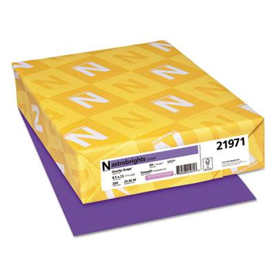 Color Cardstock, 65lb, 8.5 X 11, Gravity Grape, 250/pack