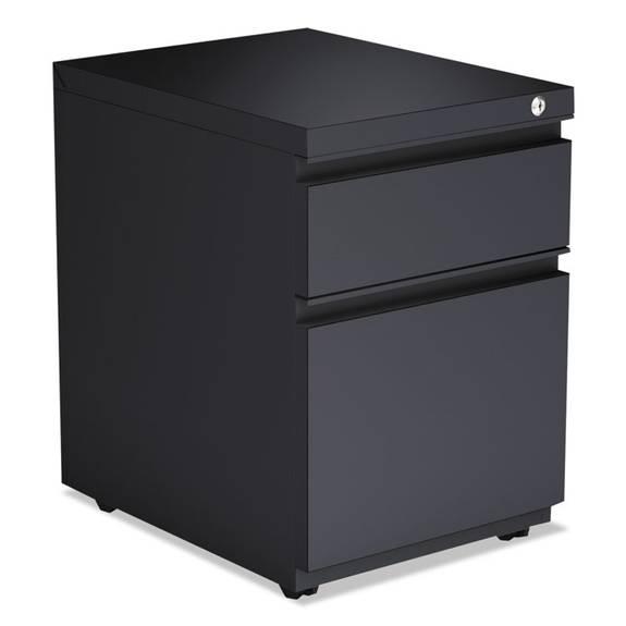 2-Drawer Metal Pedestal Box File W/full Length Pull, 14 7/8w X 19 1/8d, Charcoal