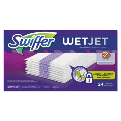 "Wetjet System Refill Cloths, 11.3"" X 5.4"", White, 24/box"
