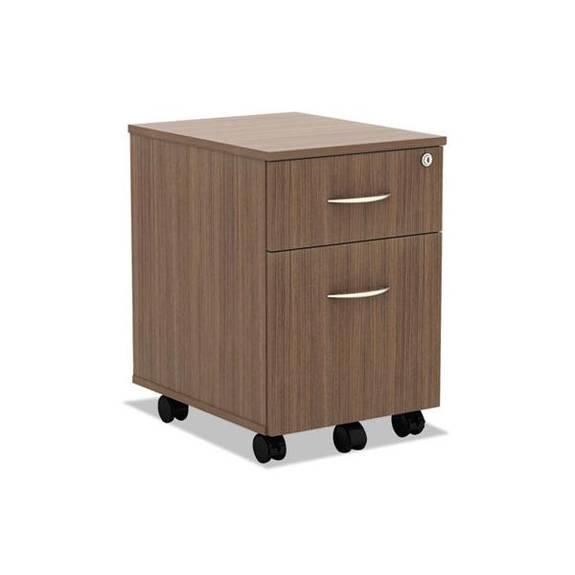 Alera Valencia Series Mobile Box/file Pedestal, 14 7/8 X 19 1/8 X 22 7/8, Walnut